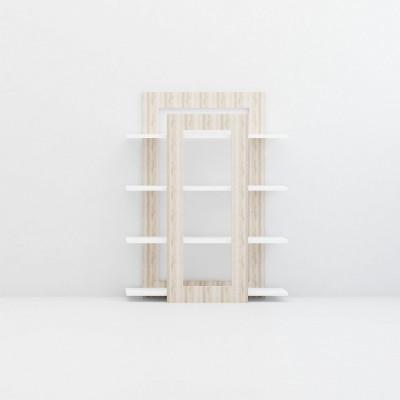 Bücherregal Juist | Weiß + Eiche