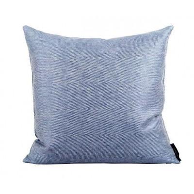 Leinen/Baumwollkissen Blau | Quadrat