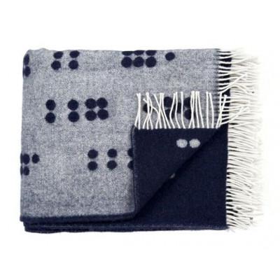 Wool Throw | Blue Dot
