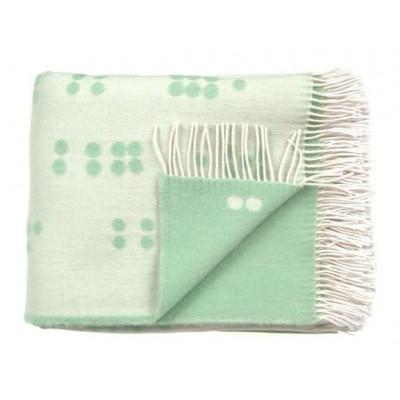 Wool Throw | Dot Green