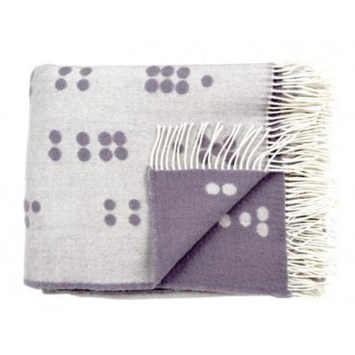 Wool Throw | Grey Dot