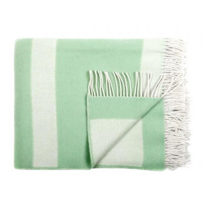 Wool Throw | Stripe Green