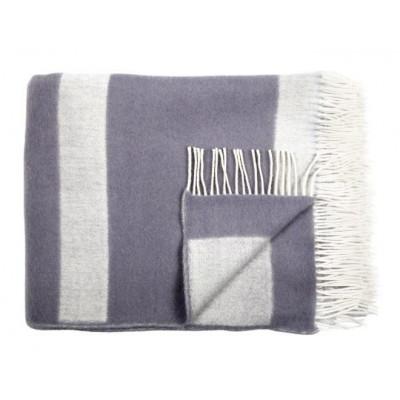 Wool Throw | Grey Stripe