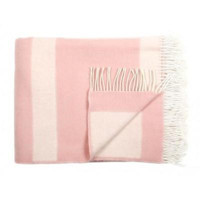 Wool Throw | Stripe Rose