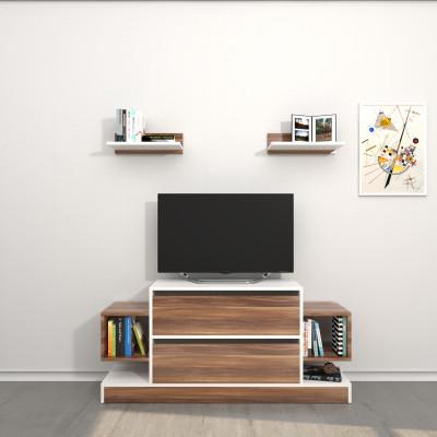 TV-Ständer Mauritius   Weiß & Holz