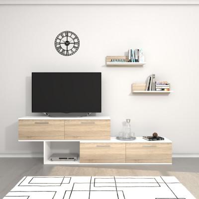 TV-Ständer Antipodi   Weiß & Sonoma