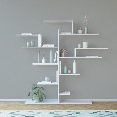 Bücherregal-Baum   Weiß