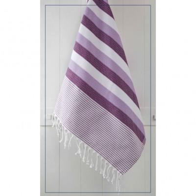 Handtuch Wabe   Violett