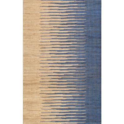 Jute Rug Pente | Brown/Navy Blue