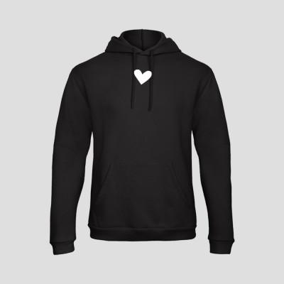 Hoodie Basic Hearts   Schwarz