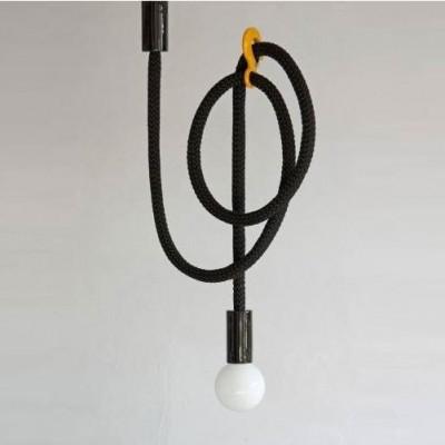 Hook Line Lampe | Schwarz/Gelb