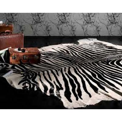 Pferdiger Lederteppich Zebra