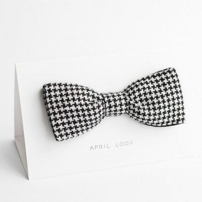 Reversible Bow Tie | Houndstooth Black