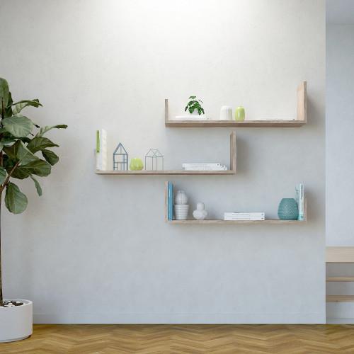Shelf Shangai Set of 3 | Wood