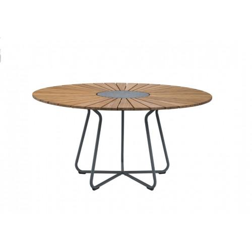 Garten-Esstisch-Kreis für den Außenbereich | Ø 150 cm