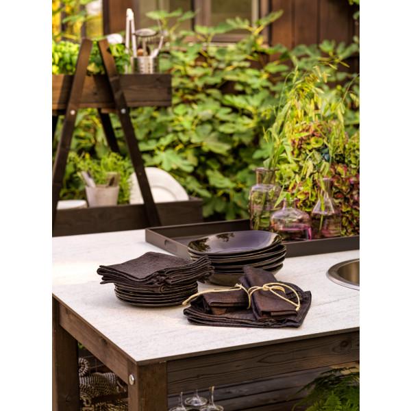 Outdoor-Küche mit Wasserhahn und Spülbecken Holma | Schwarz