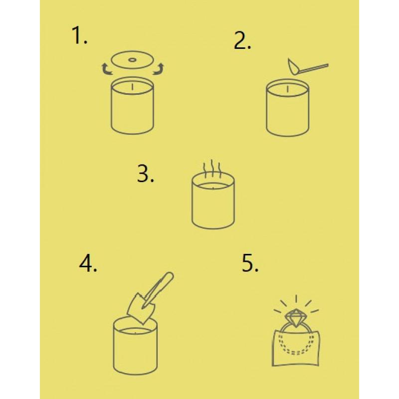 Kerze mit Silberner Ring | Moschus