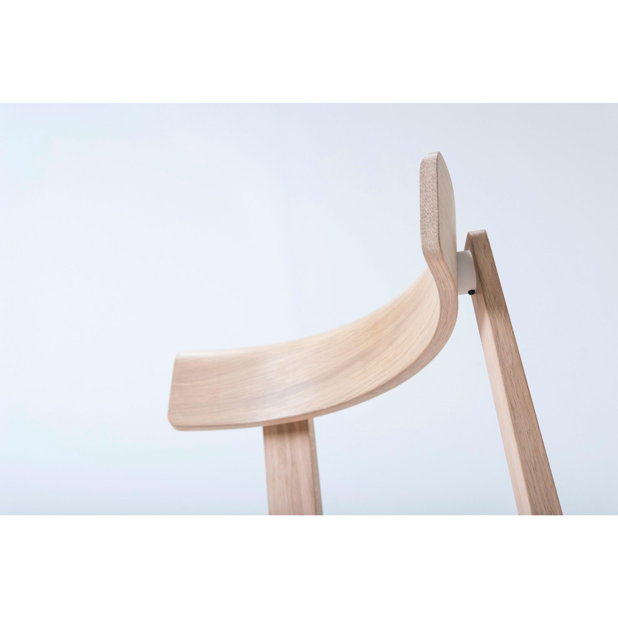Stuhl Nora   Weißes Öl / Leder
