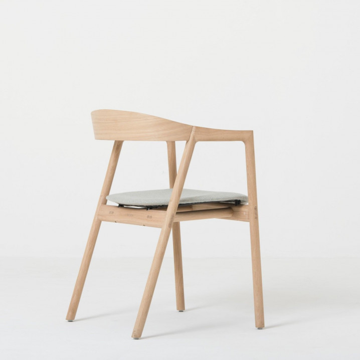 Chair Muna | White Oil / Leather
