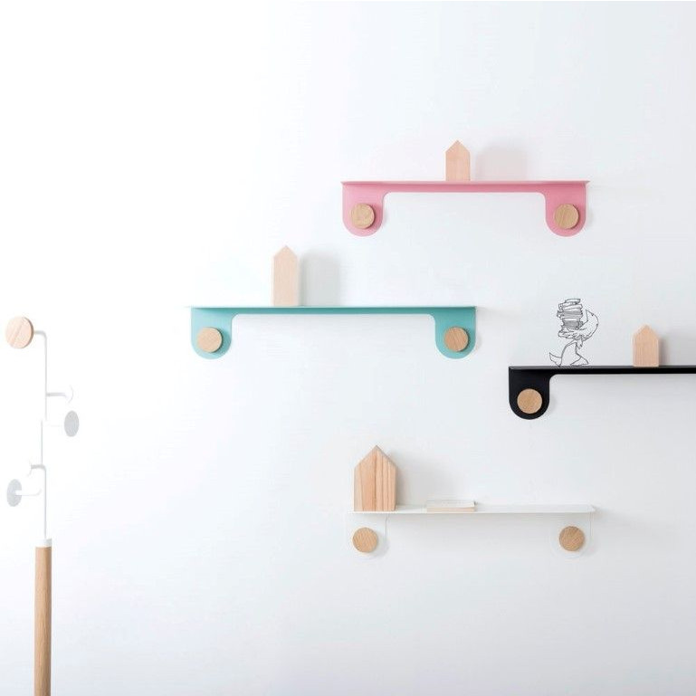 Wall Shelf Hook   Black-L