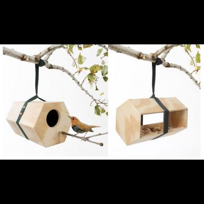 Neighbirds Birdhouse + Neighbirds Feeder   Set of 2