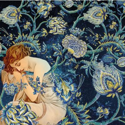 Photomural Goldene Frau | 200 x 280 cm