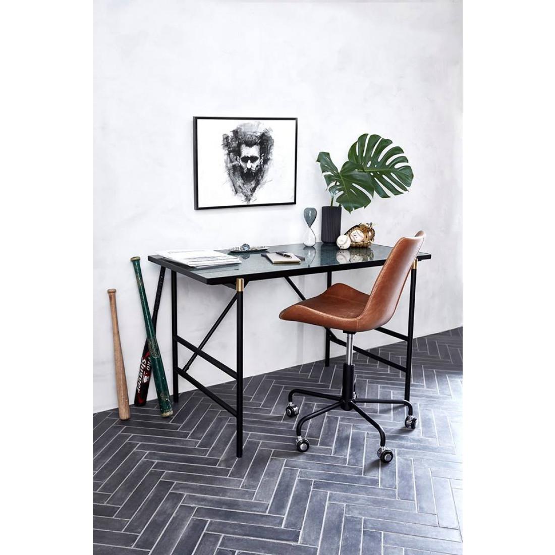 Bürostuhl-Hype | Art. Leder / Vintage Schwarz