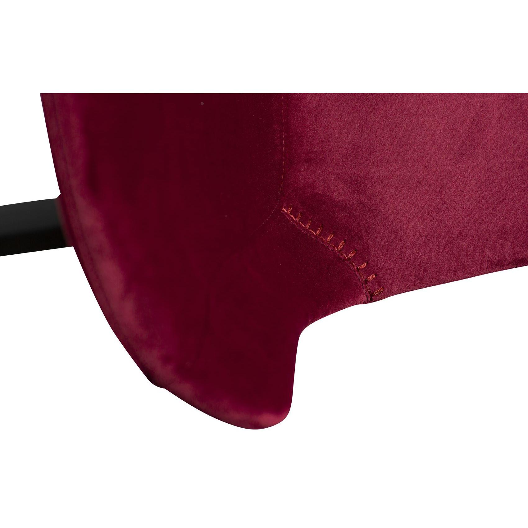 Counter Stool Hype Velvet | Ruby