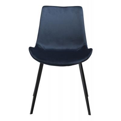 Stuhl Hype Velvet | Blau