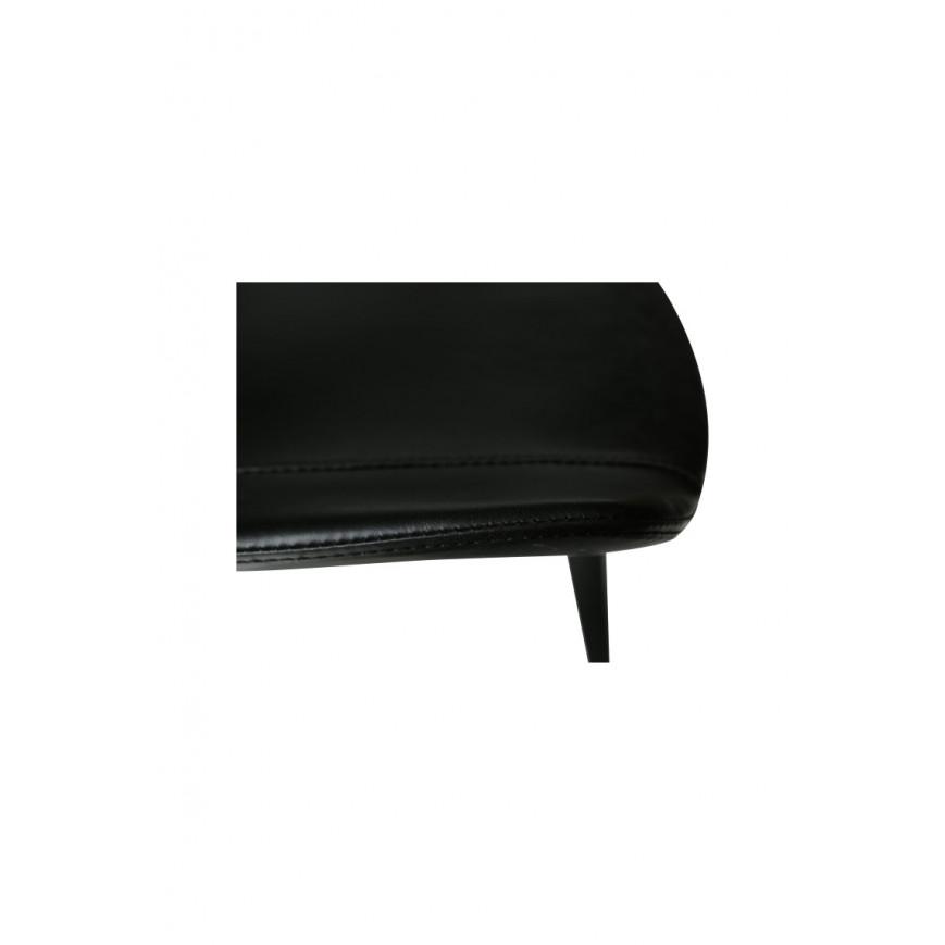 Set de 2 Chaises Hype   Cuir PU Noir Vintage & Pieds Noirs