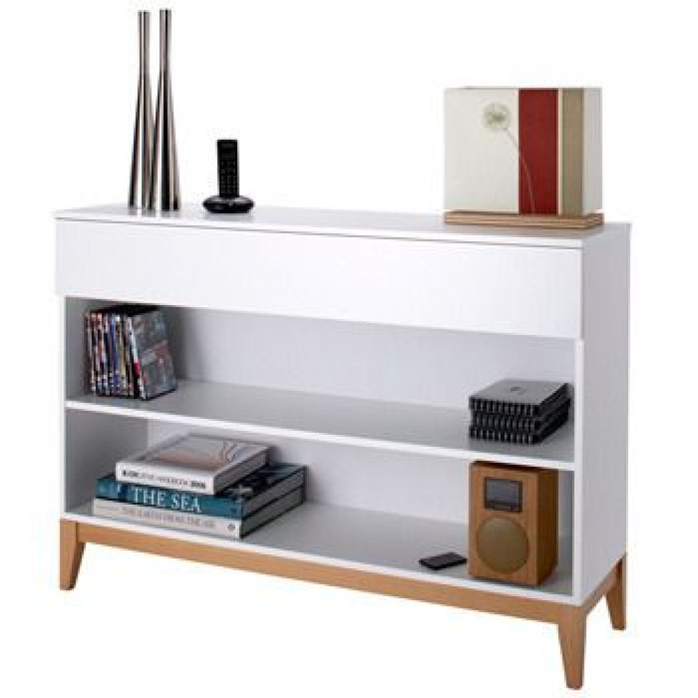 Konsole Bücherregal Blanco