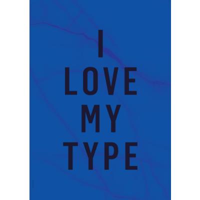 Frühlings-Marmor-Poster   I Love My Type - Kobaltblau