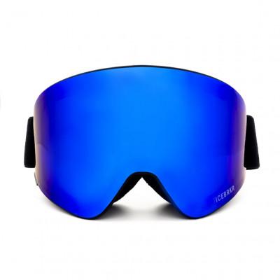 Skibrille mit Audio | Mirror Blau/Lila