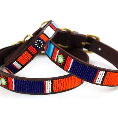 Ibiza Dog Collar Large | Brown Leather