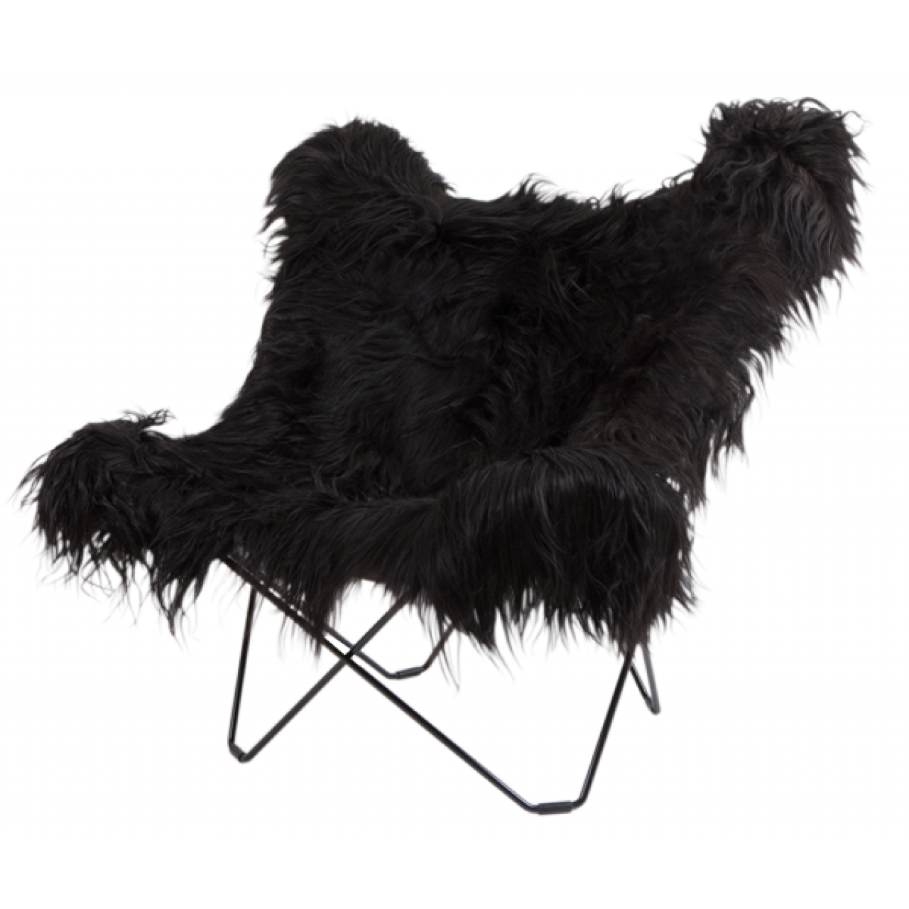 Icelandic Skin Butterfly Chair | Black