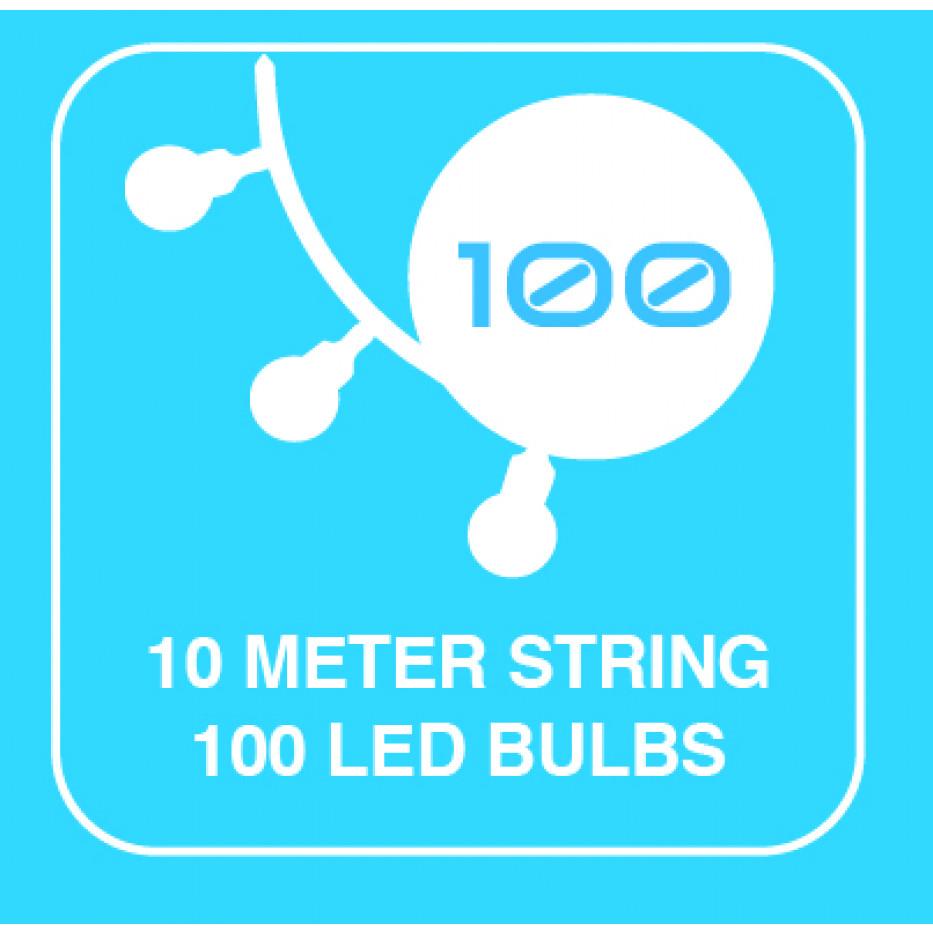 Deko mattierter Ball LED Kette OLS-100