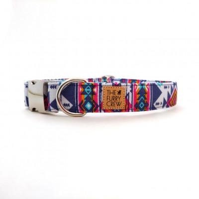 Verstellbares Hundehalsband   Ikat