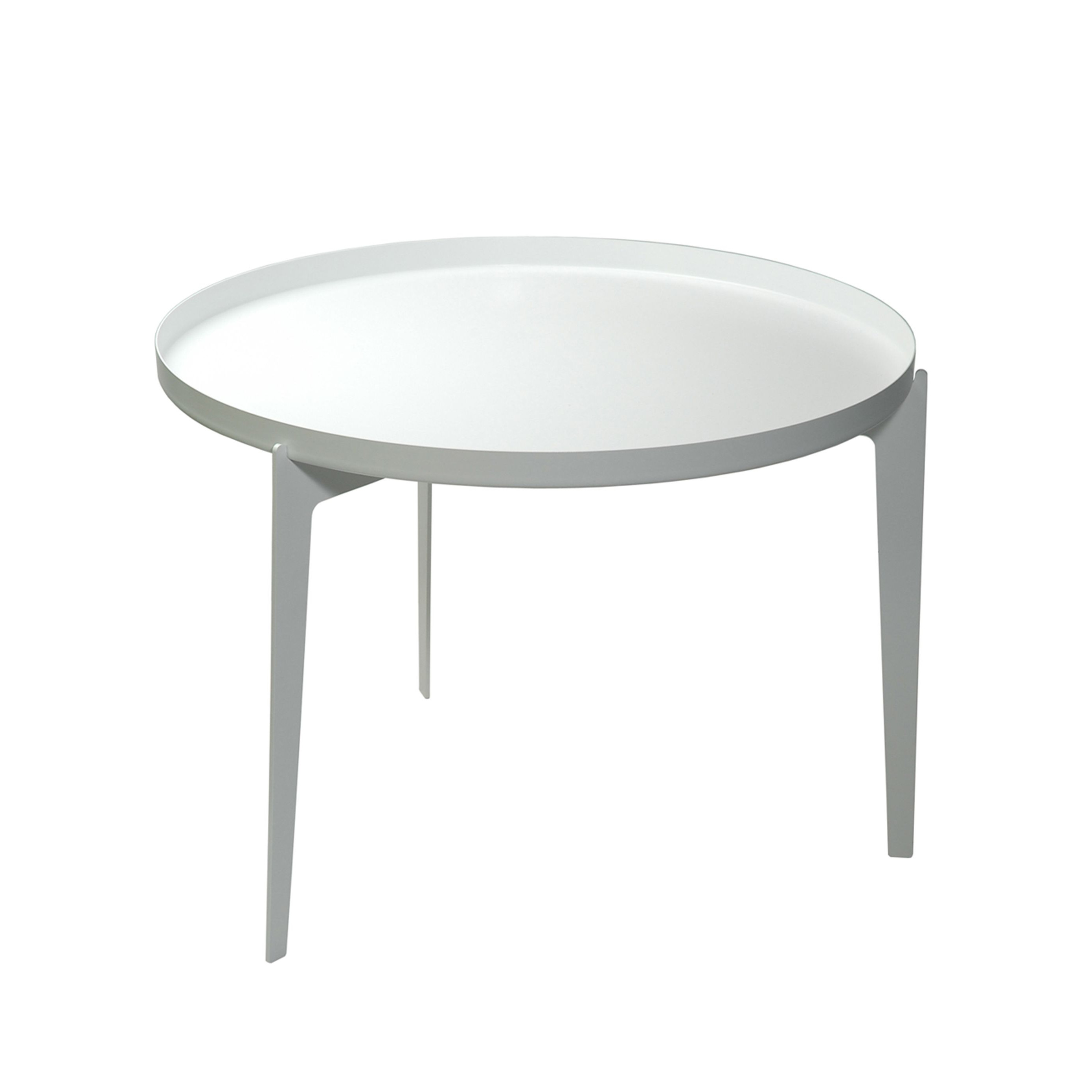 Illusion Side Table   White-Small