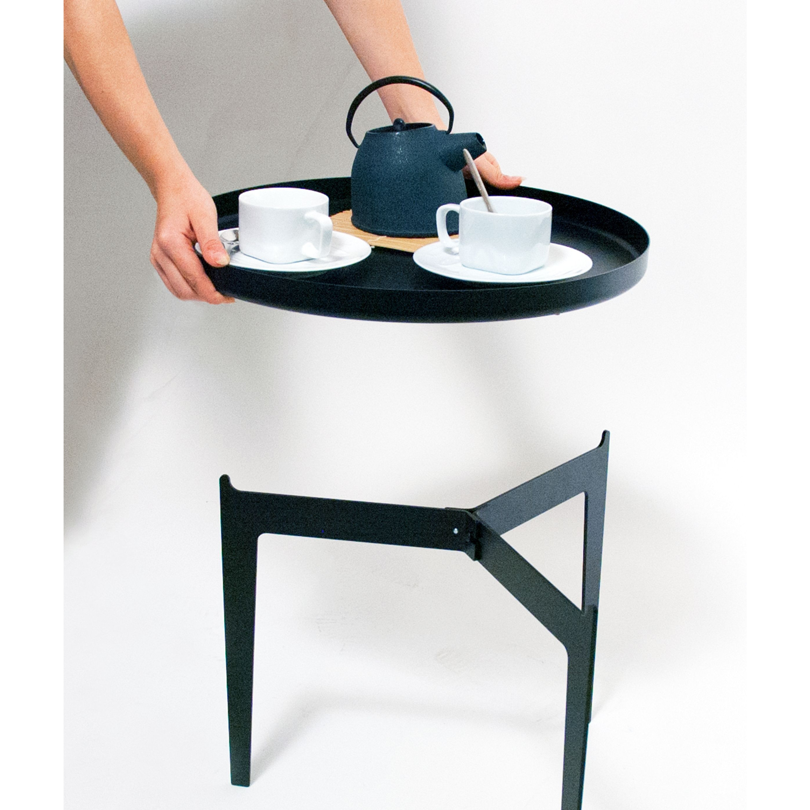 Illusion Side Table   Black-Small
