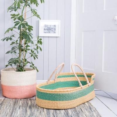 Basket Moses Bruu + Foam Mattress & Cotton Sheet