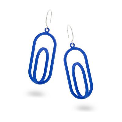 Eingerahmte Ohrringe Oval | Blau