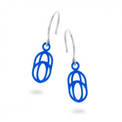 Balanced Ohrringe Oval | Blau