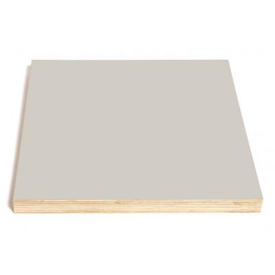 Quadratische Kreide- und Magnettafel | Grau