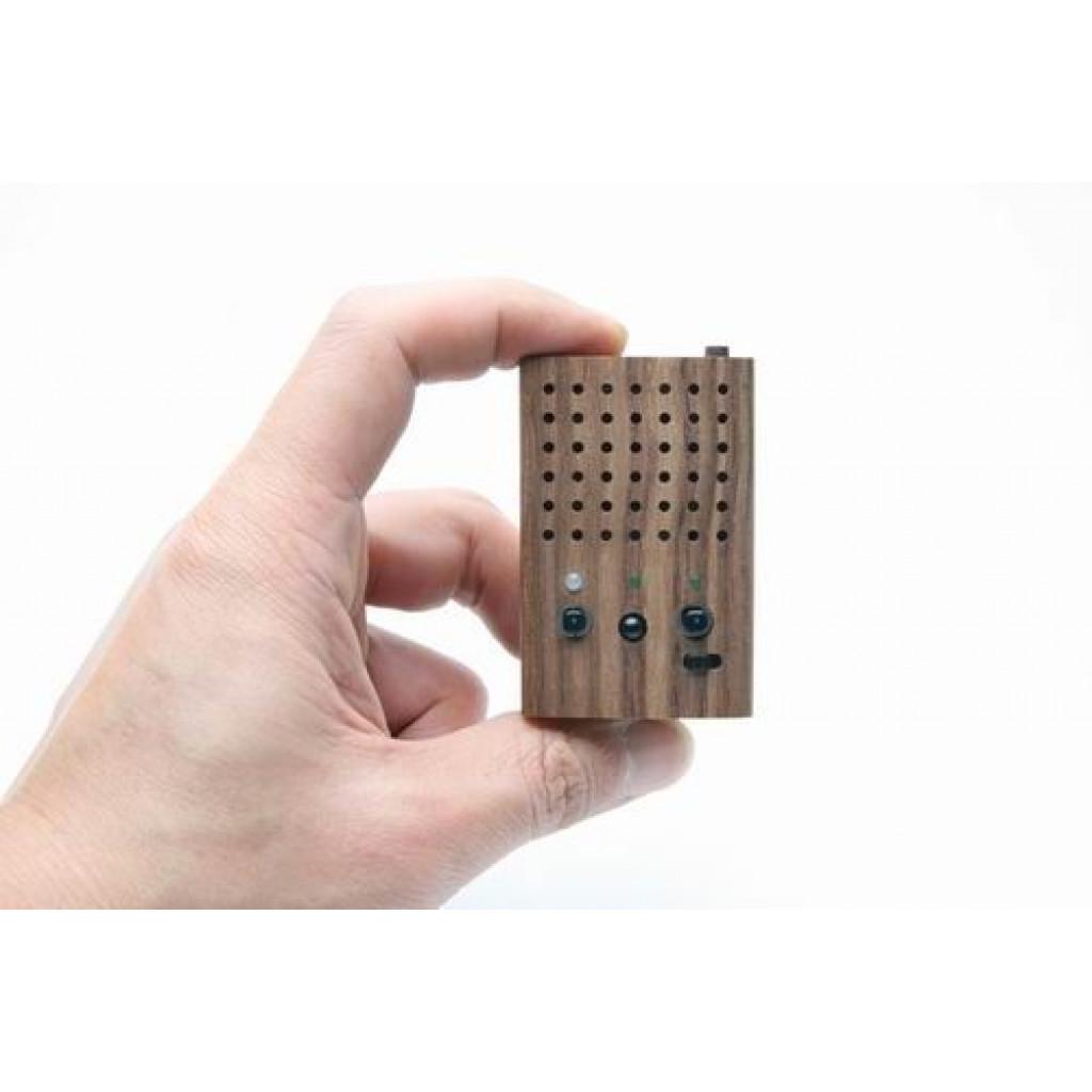 Kleine Houten Power Luidspreker (ingebouwde FM Radio & Support USB Flash Drive/SD Memory Card)
