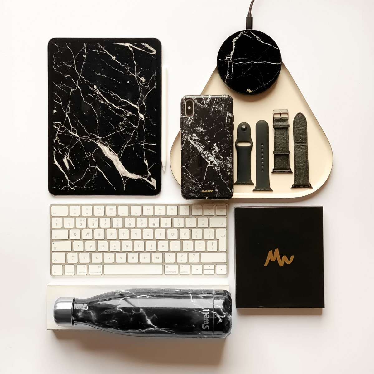 Wireless Charger | Black Marble / Black