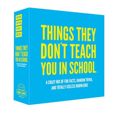 Trivialspiel-Dinge, die man in der Schule nicht lernt (Englisch)