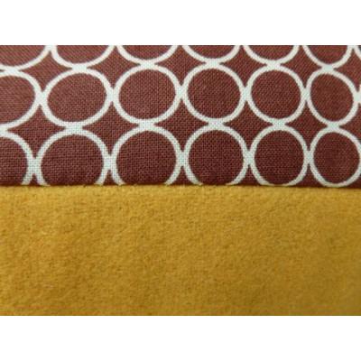 Esperanza-Kissen brauner Punkt/Gelb