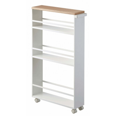 Slim Trolley with Grip Tower | White