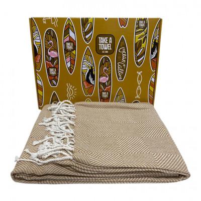Hamam-Tuch in Geschenkbox Take A Towel | Beige