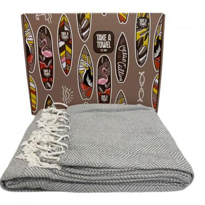 Hamam-Tuch in Geschenkbox Take A Towel | Grau